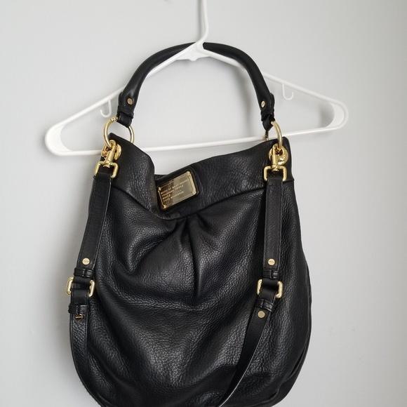 54e60eaf4ee9 Marc by Marc Jacobs Hillier Hobo leather black bag.  M 5b6b418cf63eea1a9e809e46